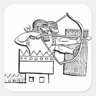 Art grec de guerrier sticker carré