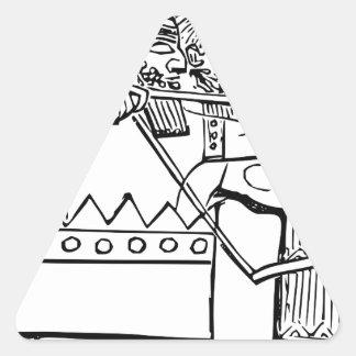 Art grec de guerrier sticker triangulaire