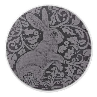 Art gris d'original de bouton de Cabinet de lapin
