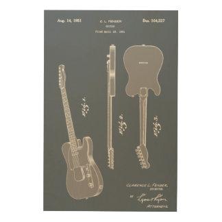 Art impressionnant de brevet de guitare