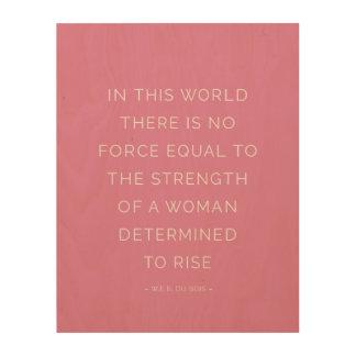 Art inspiré de mur de rose de citation de femme