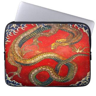 Art japonais de dragon par la douille d'ordinateur protection pour ordinateur portable