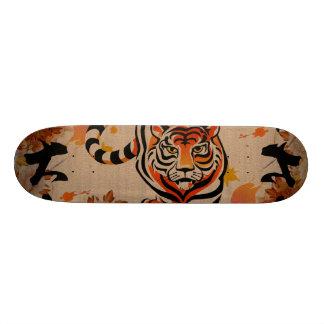 art japonais de tigre skateboards customisés