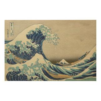 Art japonais vintage, la grande vague par Hokusai