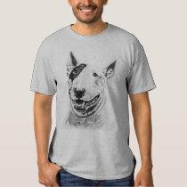 Art mignon de chien de bull-terrier tee-shirt