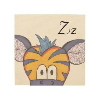 Art mignon de panneau de zèbre - Z est pour le