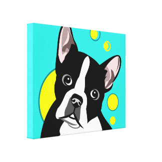 Art mignon de toile de Boston Terrier