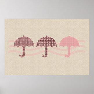 Art moderne abstrait de mode de parapluie