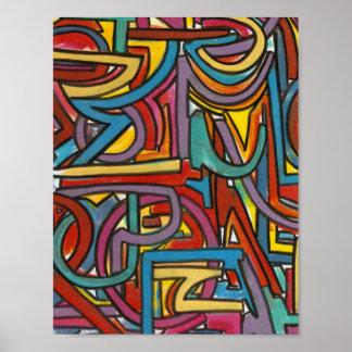 Art moderne abstrait géométrique audacieux coloré