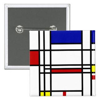 Art moderne de Mondrian Badge Carré 5 Cm