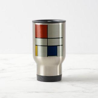 Art moderne de Piet Mondrian Mug De Voyage