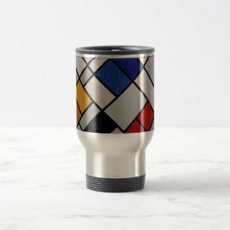 Art moderne de Piet Mondrian Mug De Voyage En Acier Inoxydable