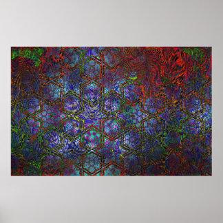 Art moderne psychédélique organique et géométrique