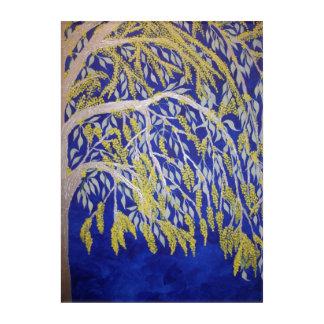 Art Mural En Acrylique Acacia australien de floraison sur l'acrylique