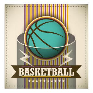 Art Mural En Acrylique Cool de jeu de boule de sport de basket-ball