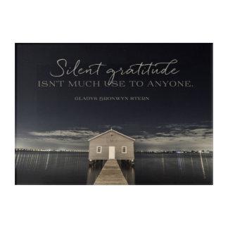 Art Mural En Acrylique Gratitude silencieuse
