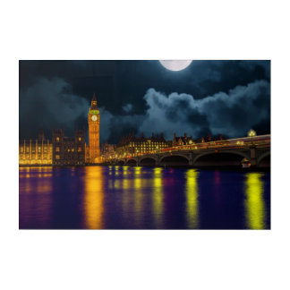 Art Mural En Acrylique Horizon grand Ben, Angleterre de Londres