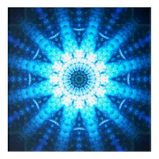 Art Mural En Acrylique Le bleu mesure le mandala
