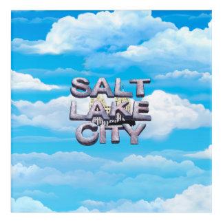 Art Mural En Acrylique PIÈCE EN T Salt Lake City