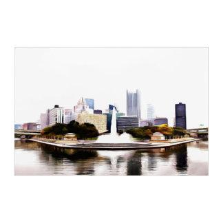Art Mural En Acrylique Pittsburgh sur l'acrylique