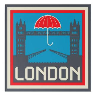Art Mural En Acrylique Pont de Londres avec le parapluie