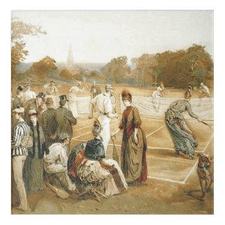 Art Mural En Acrylique Vieille école de tennis SUPÉRIEUR