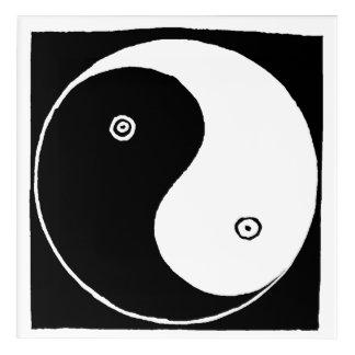 Art Mural En Acrylique Vieux Chinois Yin et symbole de Yang