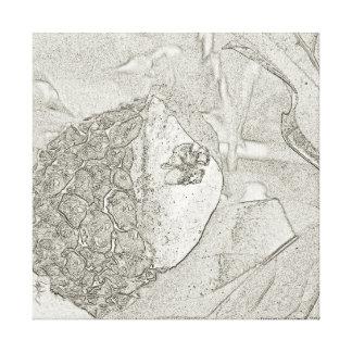 Art noir et blanc de champignon de croquis de toile