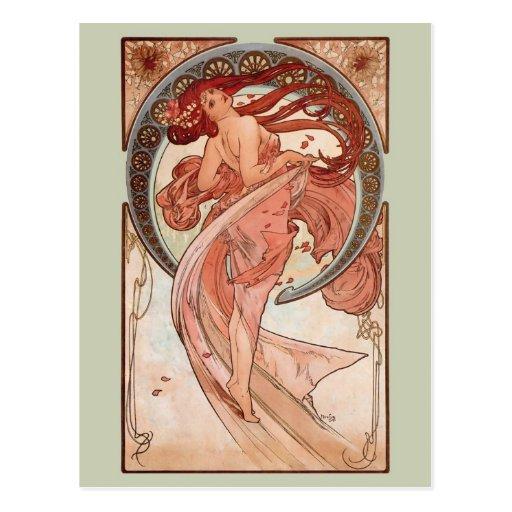 Art Nouveau - danse Cartes Postales