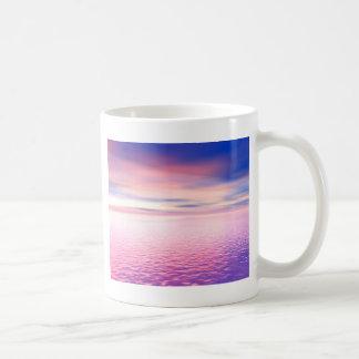 Art numérique de coucher du soleil mug