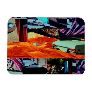 Art numérique de médias mélangés d'abrégé sur magnets en rectangle