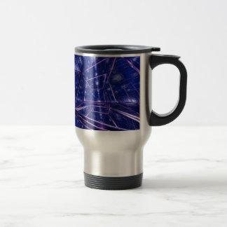 art numérique moderne contemporain cubé mug de voyage en acier inoxydable
