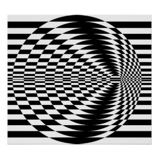 Art op contrastant les cercles concentriques 01