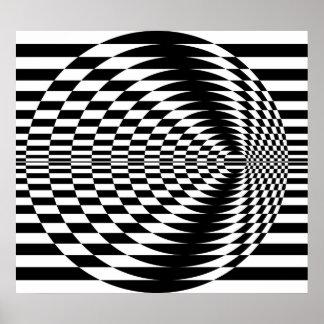 Art op contrastant les cercles concentriques 01 poster