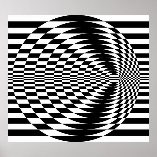 Art op contrastant les cercles concentriques 01 posters