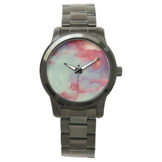 Art orageux coloré de course de brosse d'abrégé montre