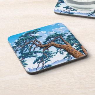 Art oriental frais d'arbre de Hasui Kawase de Japo Dessous-de-verre