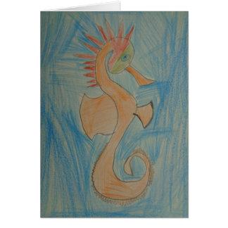 Art par des enfants, hippocampe, hippocampe, carte