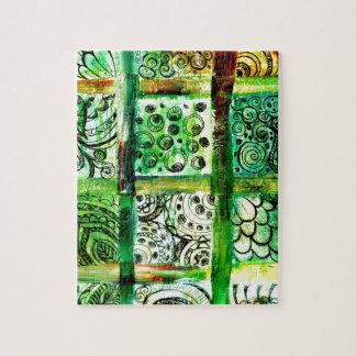 Art peint 2 de carrés puzzle