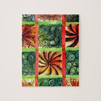 Art peint 3 de carrés puzzle
