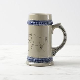 Art populaire Stein de Taureau Chope À Bière