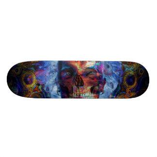 Art psychodelic de crâne skateboard 20,6 cm