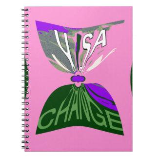 Art rose de conception de motif des Etats-Unis de Carnet