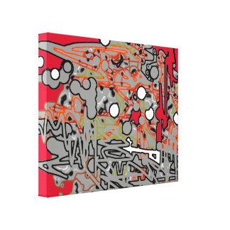art rouge et gris d'abstraction toiles