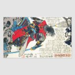 Art samouraï japonais classique oriental frais de sticker