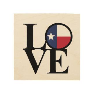 Art solitaire en bois d'étoile du Texas d'AMOUR