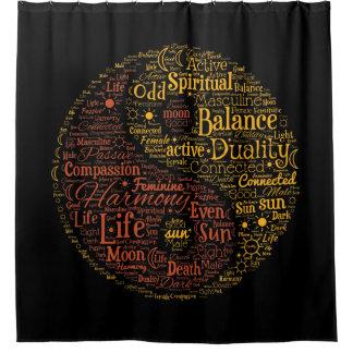 Art spirituel de mot de couleur de Yin Yang Rideaux De Douche