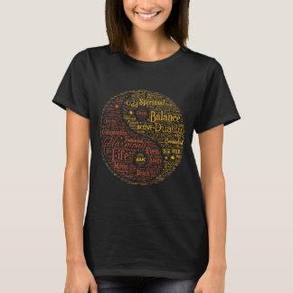 Art spirituel de mot de Yin Yang T-shirt