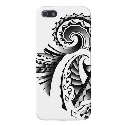Art tribal maori/Samoan de tatoo Coque iPhone 5