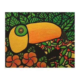 Art tropical coloré d'original de toucan